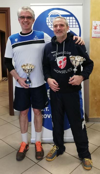 da sx Eugenio Barbieri con Michele Liberi vincitore del torneo