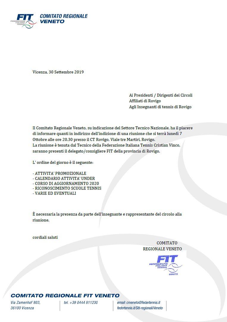 LUNEDI 7 OTTOBRE ORE 20.30 IL SETTORE TECNICO NAZIONALE ...
